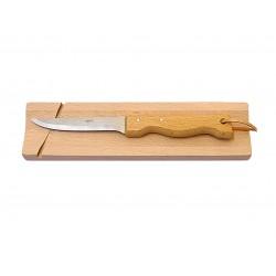 Planche hêtre avec couteau
